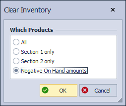 Clear Inventory