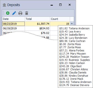 Deposit History Chooser