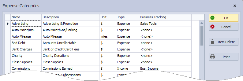 Allocating Expense Categories