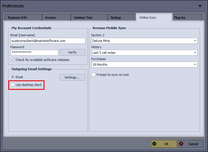 Online Sync Tab Desktop Client