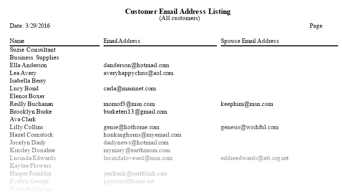 address listing by name
