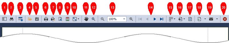 Print Preview Toolbar