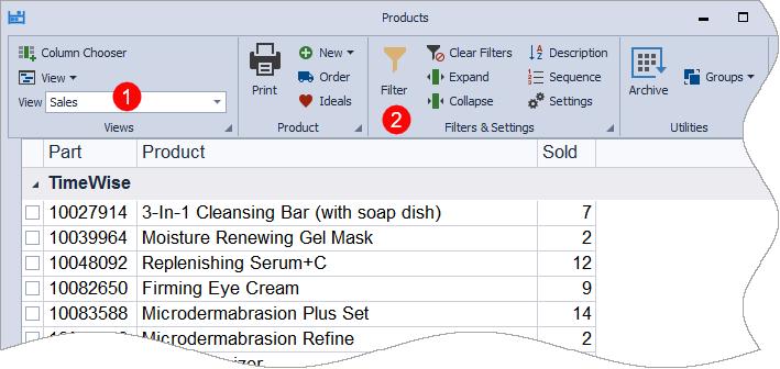 Sales View