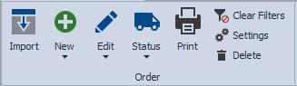 Inventory Orders Toolbar